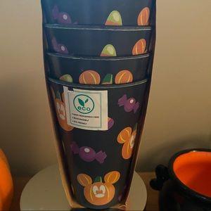 Mickey halloween pumpkin cup set (4)